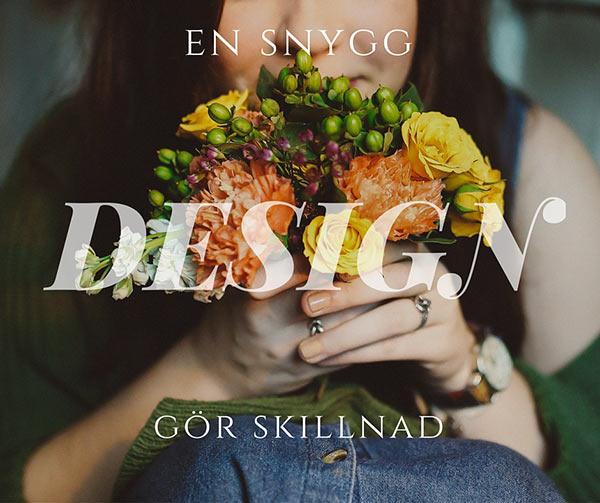 snygg design tjej med blommor