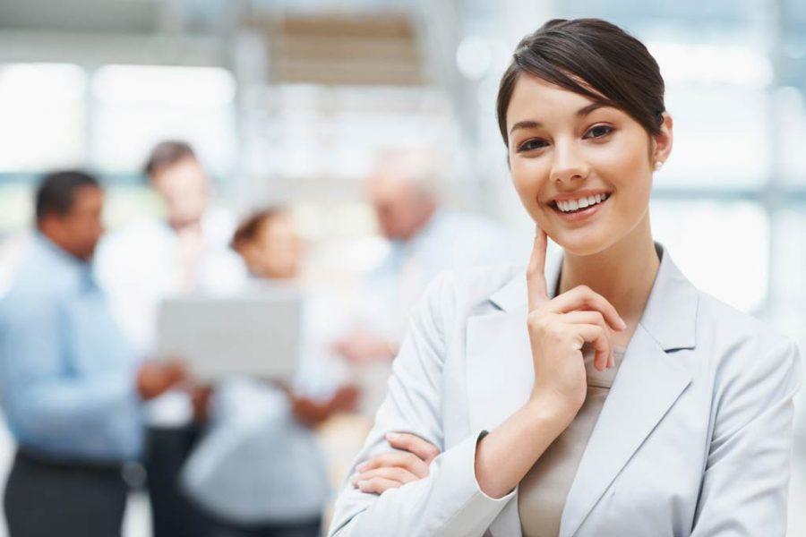 kvinnlig chef - e-handel